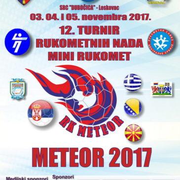 12. turnir rukometnih nada – METEOR 2017