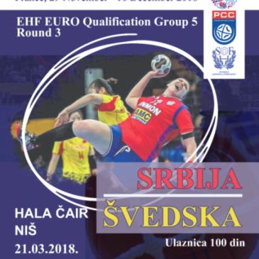 Srbija – Švedska u niškom Čairu