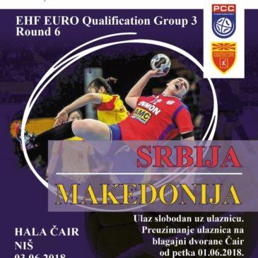 Srbija – Makedonija u hali Čair