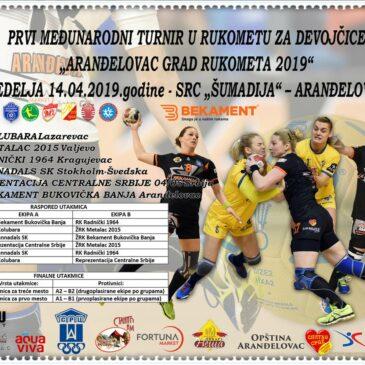 Аранђеловац град рукомета 2019 – међународни турнир за девојчице
